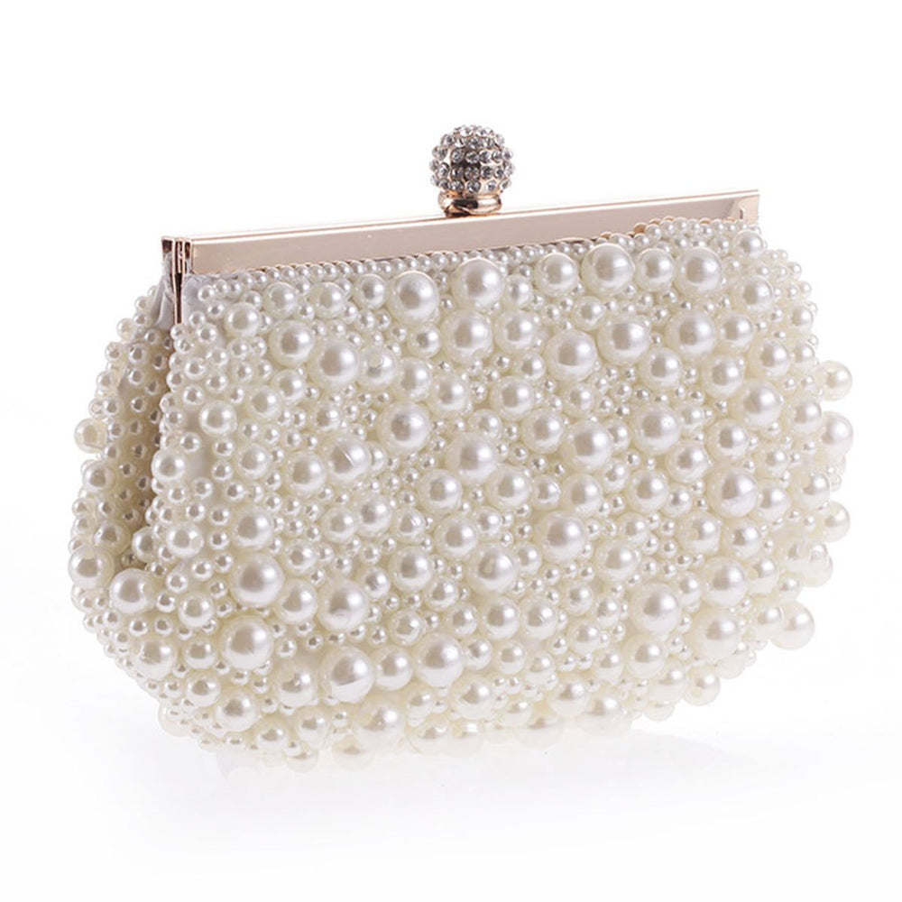 Pearl Bead Luxurious Evening Clutch Bag