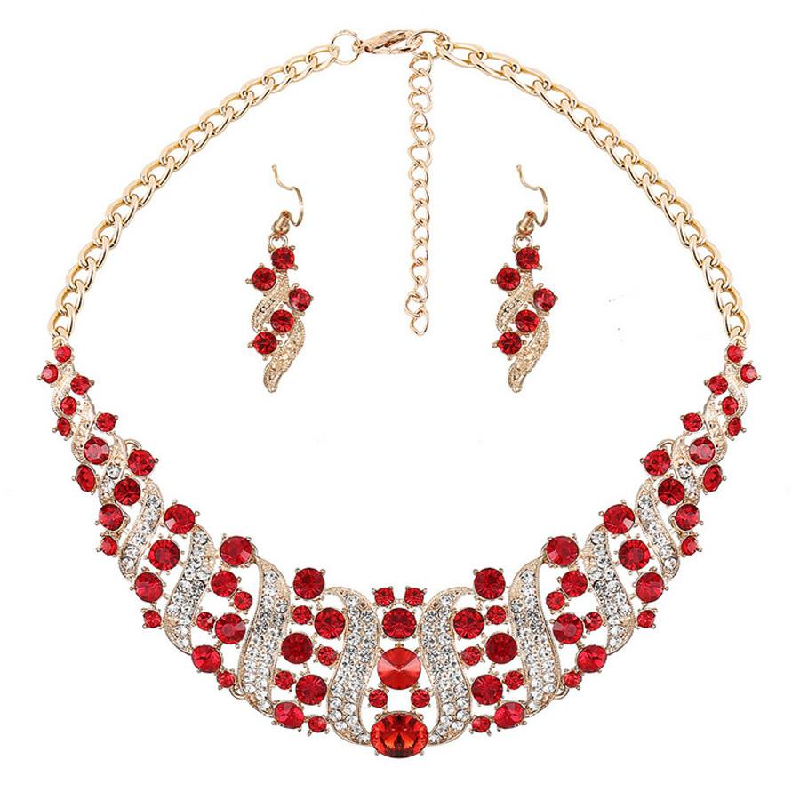 Luxury High Quality Crystal Necklace And Earrings