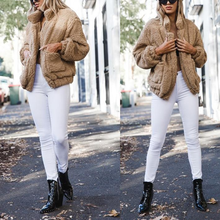 Fashion Sexy Double Pile Short Overcoat