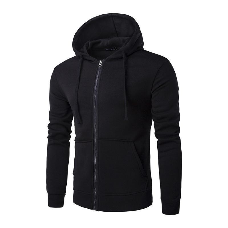 Fashion Solid Color Mens Hoodie