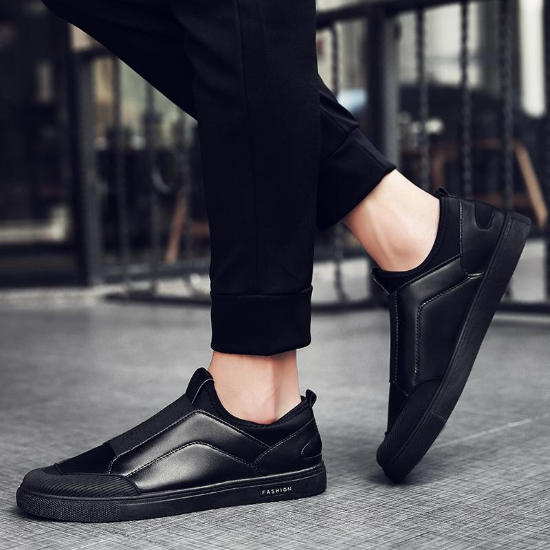 Casual Men's Black Split Joint Flat Shoes