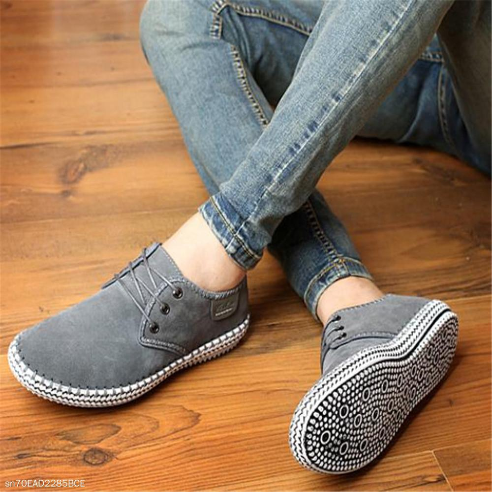 Fashion Men's Plain Knitting Bottom Sport Casual Shoes