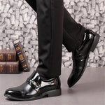 Fashion Business Plain Leather Mens Shoes