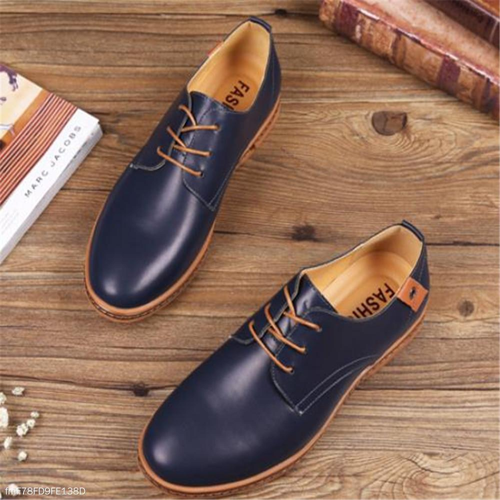 Fashion Casual Soft Plain Leather Mens Shoes