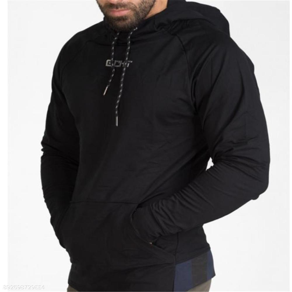 Fashion Mens Sport Casual Loose Plain Long Sleeve Hoodie