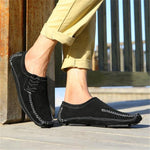 Fashion Mens Sport Plain Soft Stitching Loafer Shoes