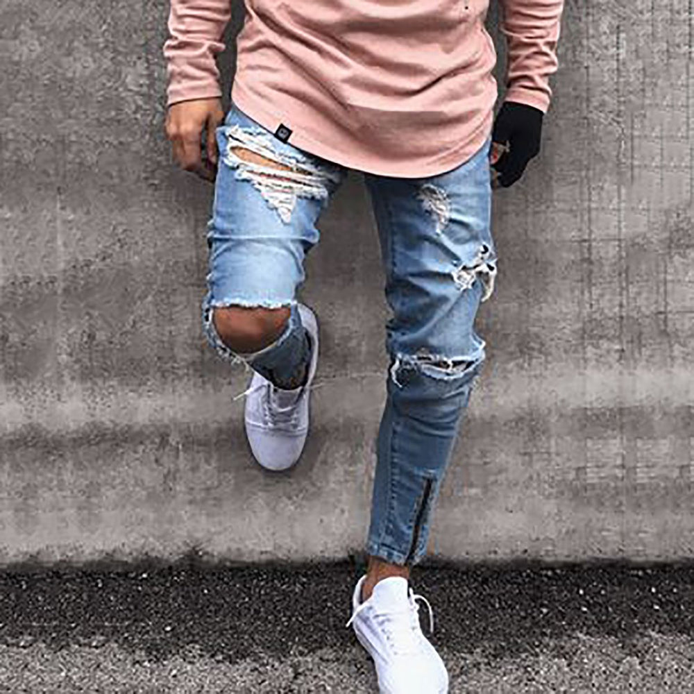 Fashion Mens Zipper Jeans