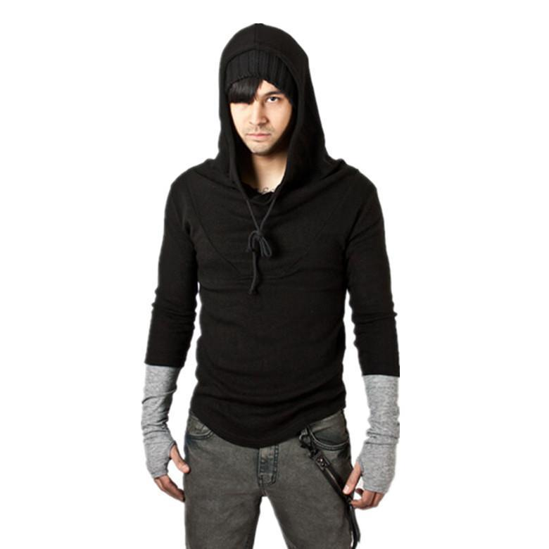 Fashion Mens Basic Even Gloves Hoodie 4 Colors