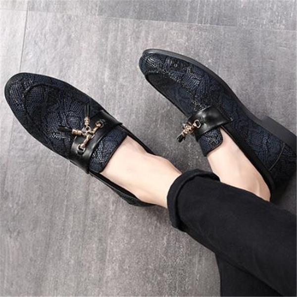 Business Fashion Lace Fringe Sandals Leather Shoes
