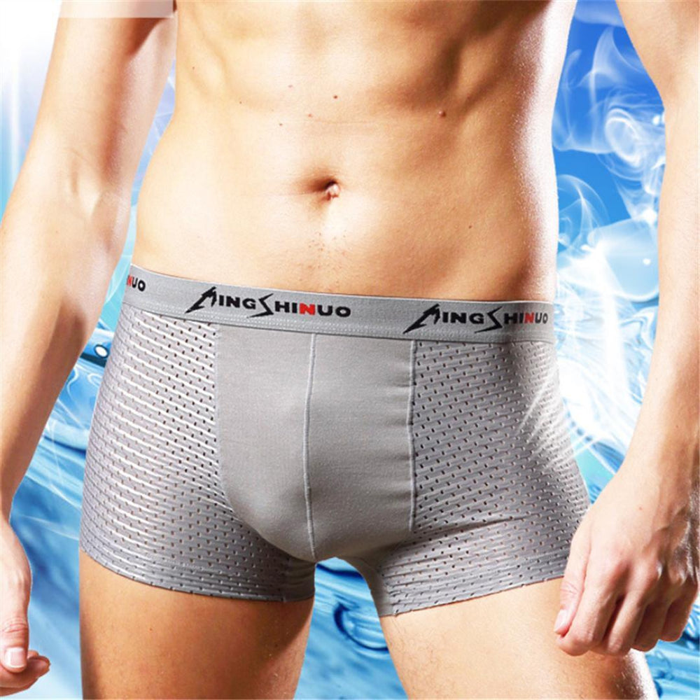 Mens Modal Breathable Middle-Waisted Underpant