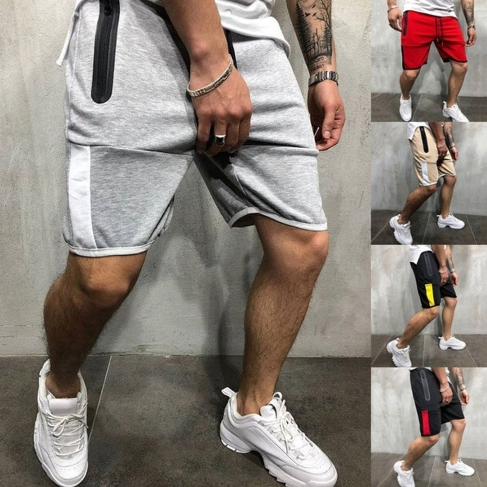 Sports Slim Stitching Five Points Jogging shorts pants