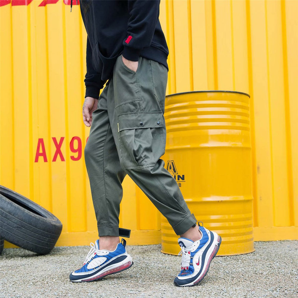 Fashion Street Style Plain Loose Jogger Pants