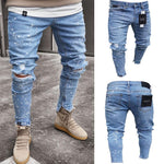 Fashion Street Style  Hole Plain Slim  Jeans Pants