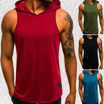 Casual Summer Plain Slim  Sleeveless Shirt With Hat
