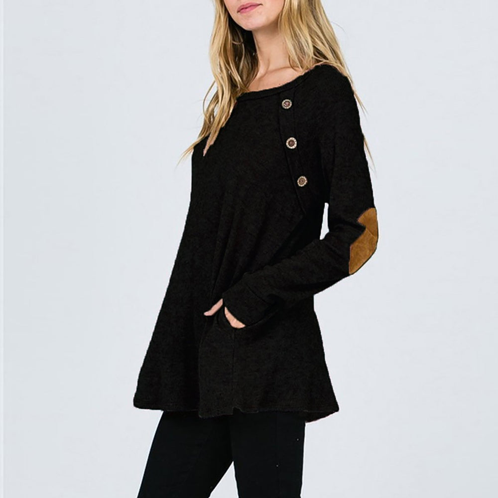 Casual Solid Color Long Sleeve T-Shirt
