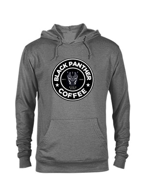 Black Panther Coffee Hoodie-CREWNECKS & HOODIES-WakandaForever