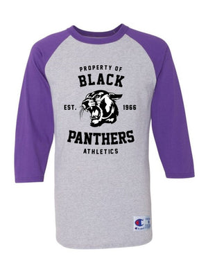 Black Panthers Champion Baseball Tee-TEES-WakandaForever