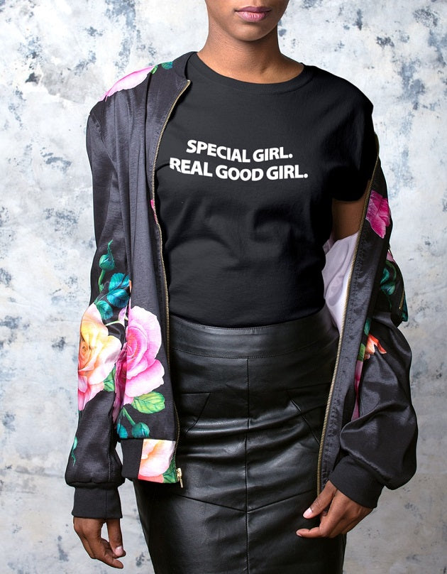 Special Girl Real Good Girl Tee-TEES-WakandaForever