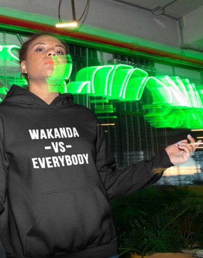 Wakanda vs. Everybody Hoodie-CREWNECKS & HOODIES-WakandaForever