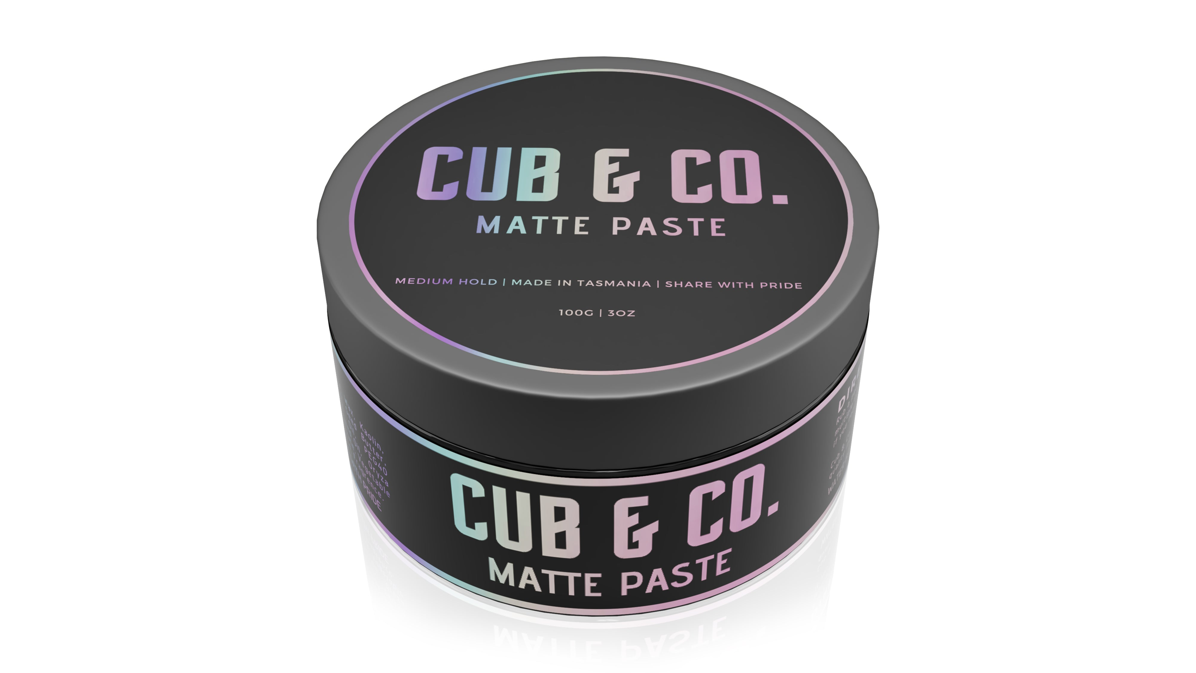 Cub and Co. Organics Natural Grooming Matte Paste
