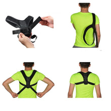 Load image into Gallery viewer, Adjustable Posture Clavicle Support Corrector Back Straight Shoulders Brace Strap Correct