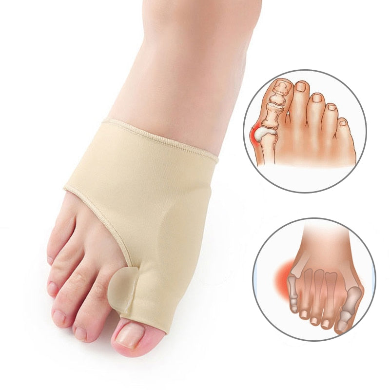 1Pair Orthopedic Bunion Corrector and Pain Relief Gel Cushion Pad Toe Brace Hallux Valgus