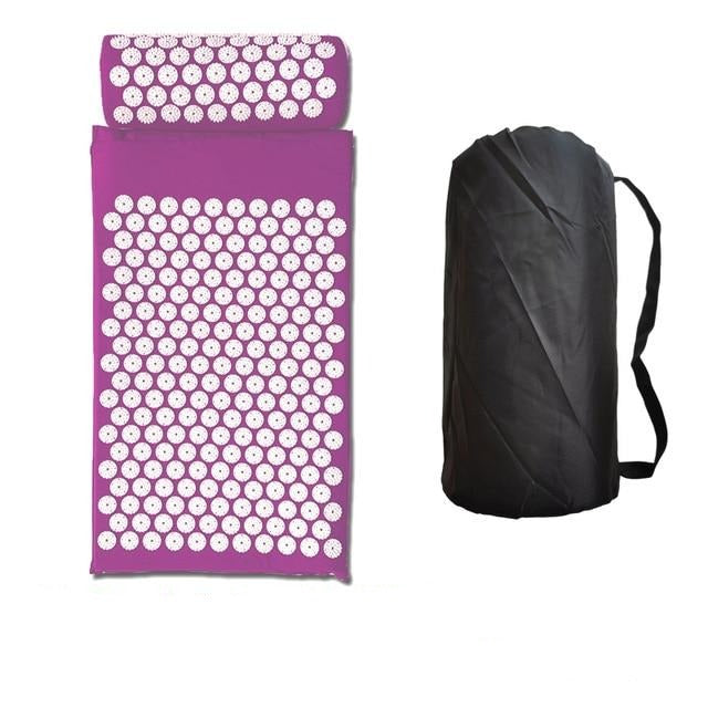 Acupressure Mat and Neck Pillow Set - Back and Neck Pain Relief - Relieves Stress, Sciatic Pain, Headaches and Aches at Pressure Points