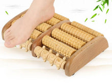 Load image into Gallery viewer, Dual Wooden Foot Roller Massager  Plantar Fasciitis Heel Arch Pain Relief