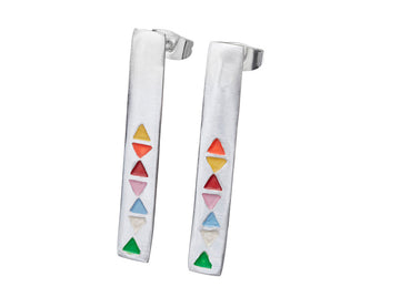Triangle Colour Earrings // 098