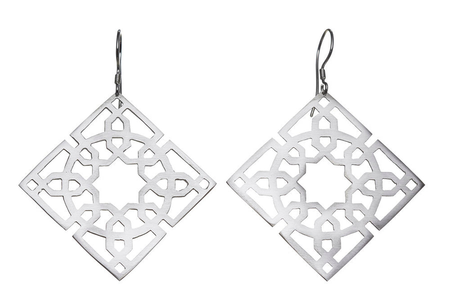Moroccan tile earrings // 045