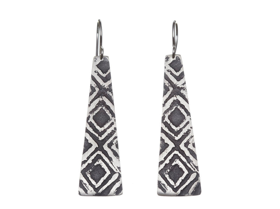 Etched earrings // 086