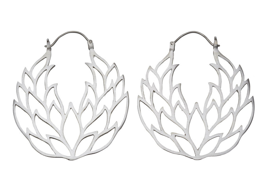 Lotus flower earrings // 132