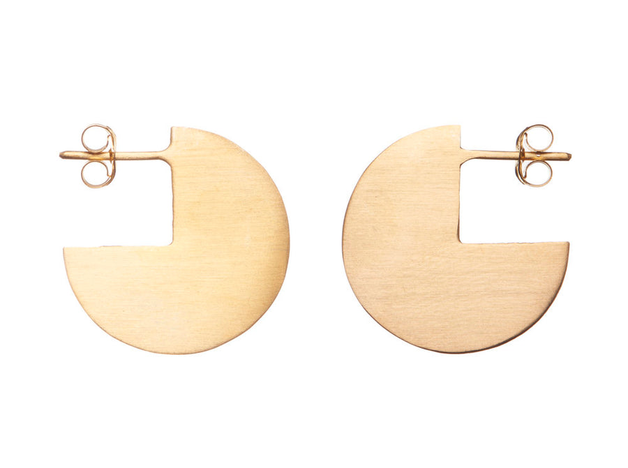 Pac man studs gold // 314