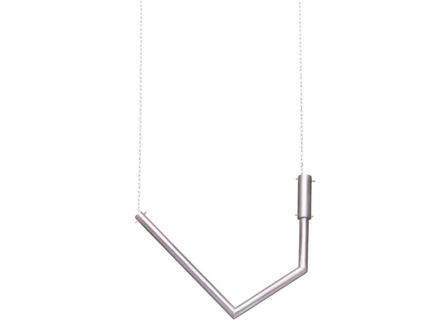Geometric tube necklace // 481