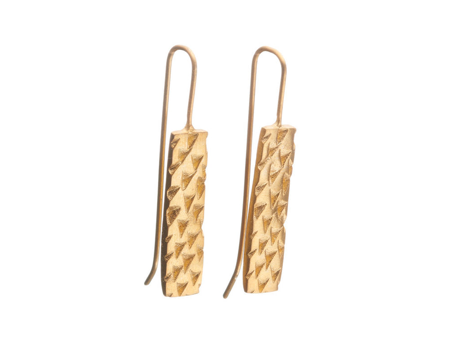 Triangle Texture Earrings // 496