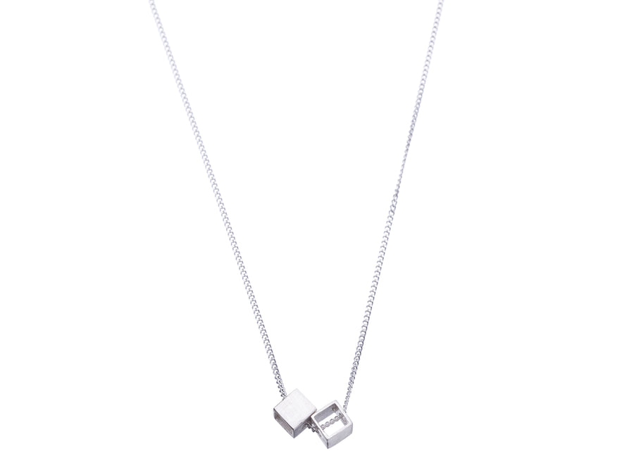 Double Cube necklace // 304D