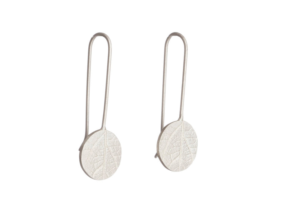 Leaf print earrings // 591