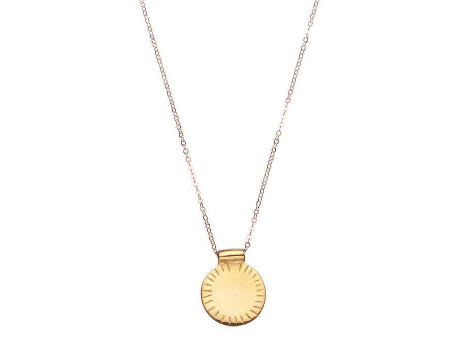 Sun disc necklace // 646