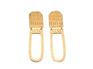 Aztec swing Earrings // 626