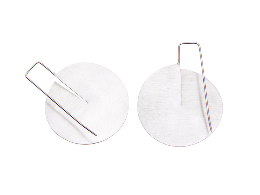 Slit Disc Earrings // 838