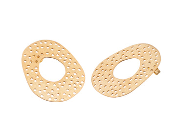 Perforated donut studs // 870