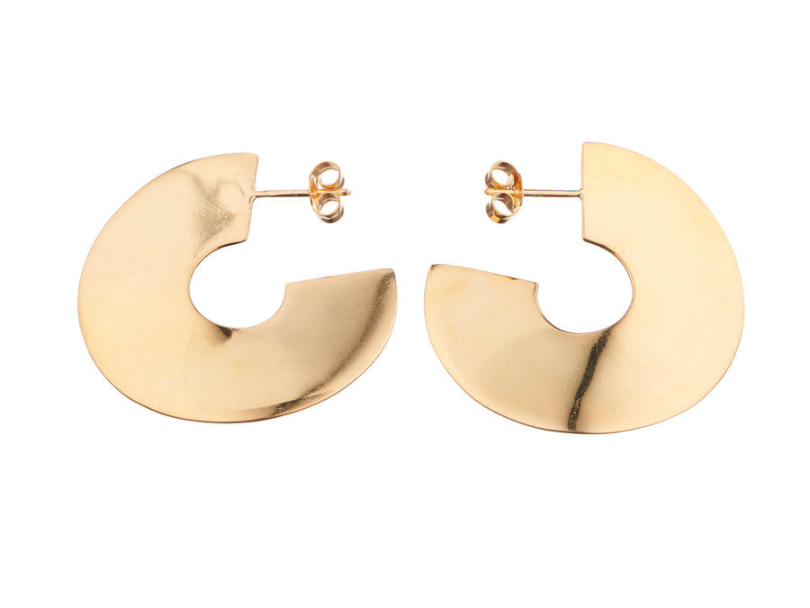 Wave hoop earrings // 884S