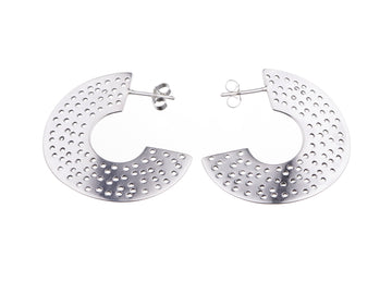 Wave hoop earrings // 884H
