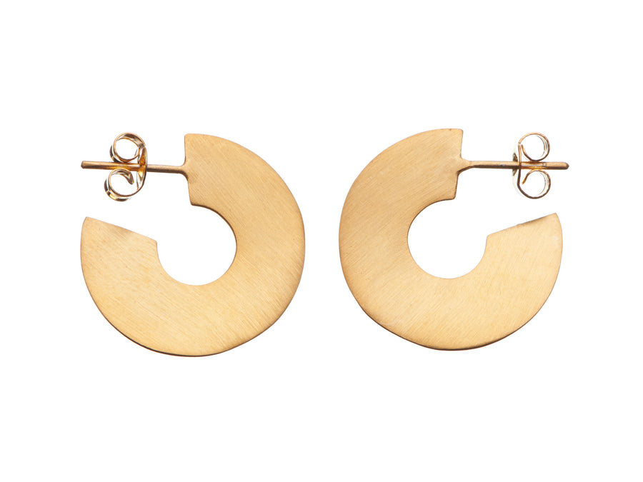 Wave hoop earrings // 883S