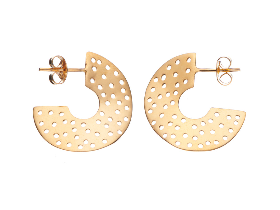 Wave hoop earrings // 883H