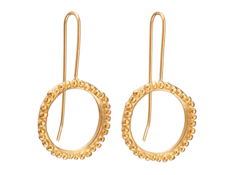 Flora Halo drop earrings // 965