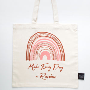 Rainbow Organic Cotton Tote Bag