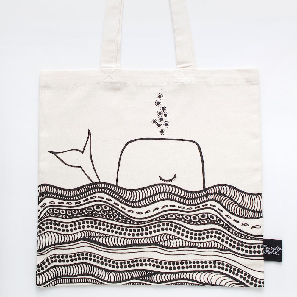 Whale Dreams Organic Cotton Tote Bag