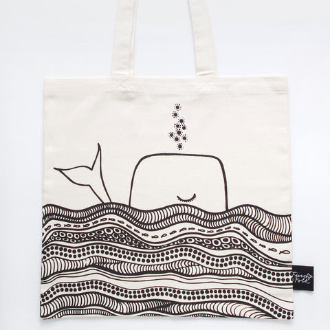 Whale Dreams Organic Cotton Tote Bag *FREE SHIPPING*