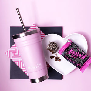 smoothie cup dusty pink